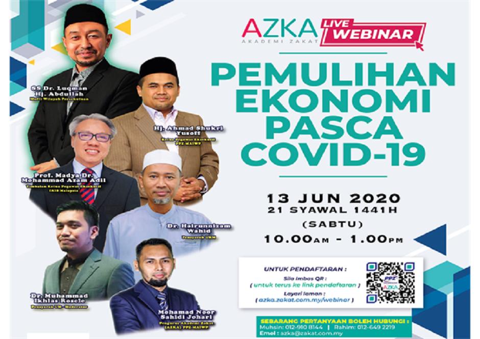 AZKA Live Webinar: Pemulihan Ekonomi Pasca COVID-19
