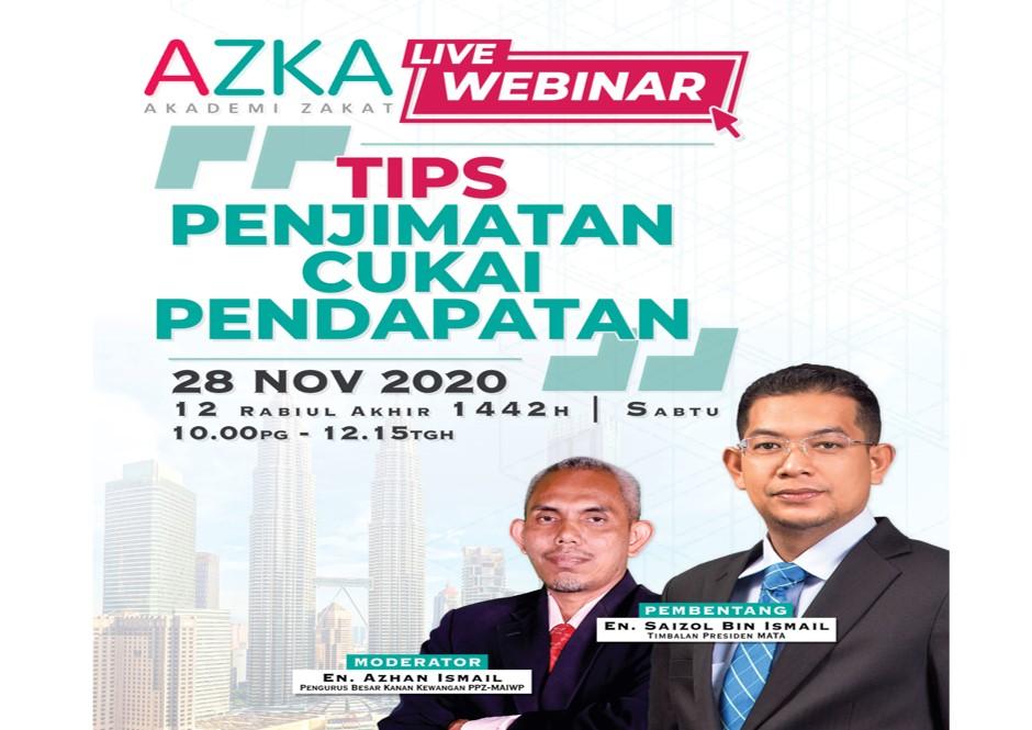 AZKA Live Webinar: Tips Penjimatan Cukai Pendapatan