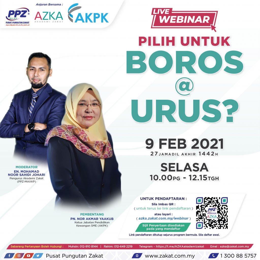AZKA Live Webinar: Pilih Untuk Boros @ Urus?