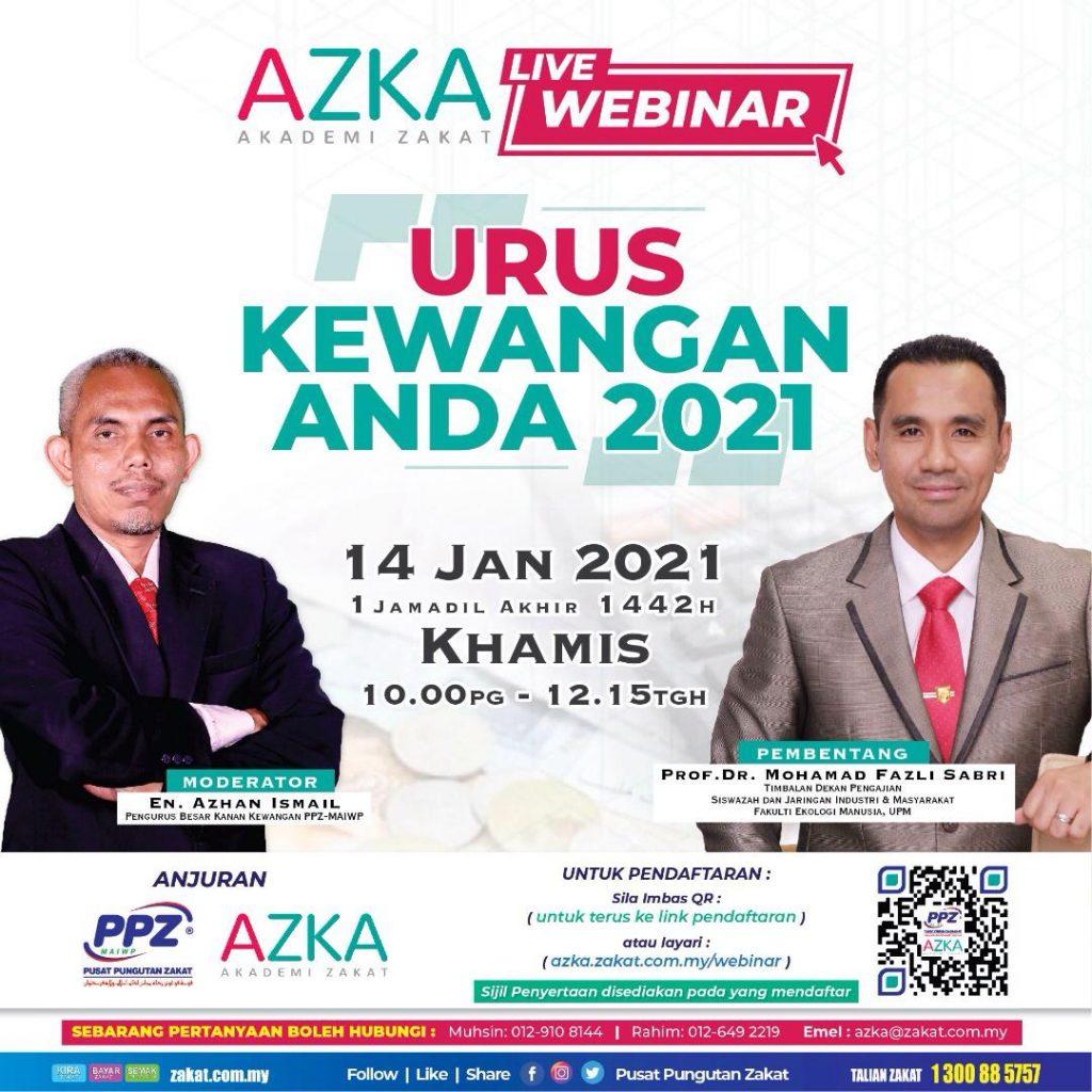 AZKA Live Webinar: Urus Kewangan Anda 2021