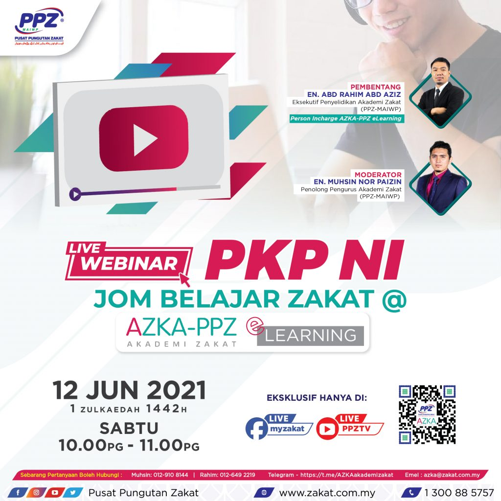 AZKA Live Webinar: PKP Ni Jom Belajar Zakat @ AZKA eLearning